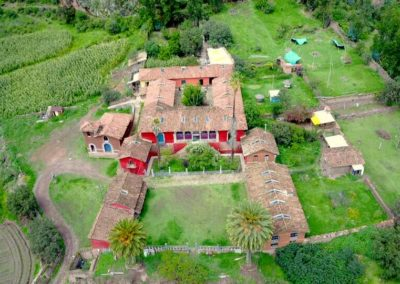 Vista aérea de La Hacienda / Aerial view of La Hacienda